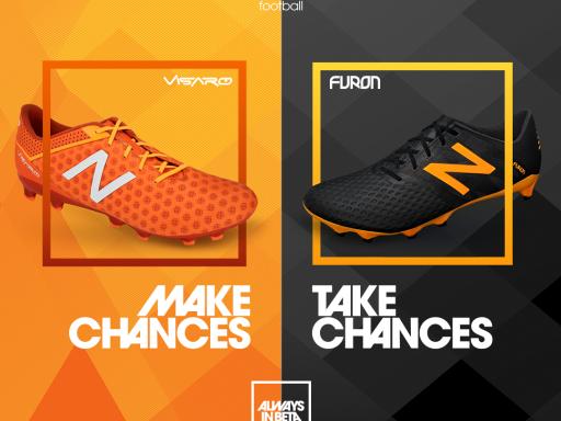 New Balance Visaro Lava/Fireball y Furon Black/Impulse Orange