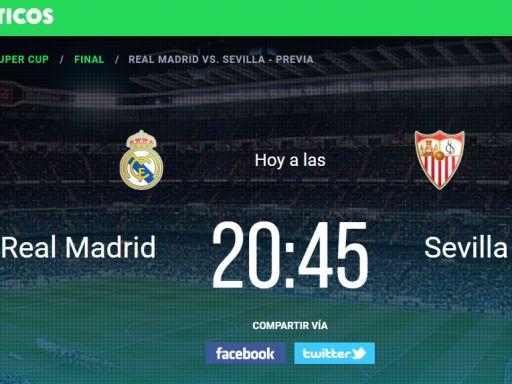 Infografía de la Supercopa de Europa: Real Madrid – Sevilla FC