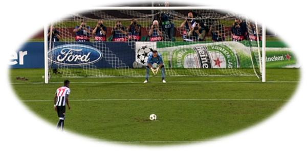 Turno de Maicosuel en la tanda de penaltis contra el Sporting de Braga