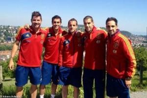 Javi García, Arbeloa, Soldado, Negredo, Juanfran