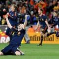 Iniesta celebra el título mundial en Johannesburgo. Foto: EFE.