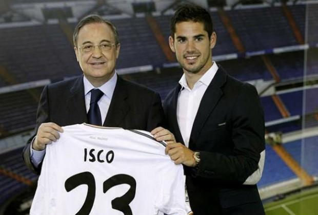 Isco y Florentino Pérez