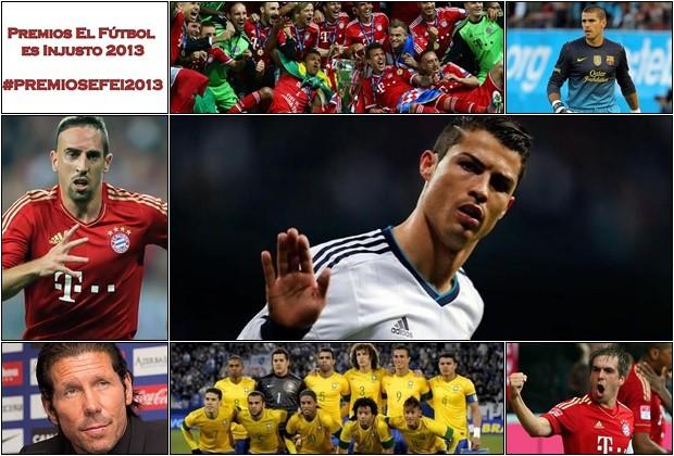 Premios EFEI 2013_Cristiano Ronaldo_Franck Ribery_Diego Pablo Simeone_Víctor Valdés_Philipp Lahm_Brasil_Bayern Munich