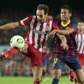 Juanfran y Neymar, en el el choque de Supercopa del pasado mes de agosto (Foto: www.as.com)