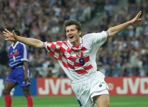 Suker celebra su gol contra Francia en las semifinales de la Copa del Mundo (Foto: Inserbia.com).
