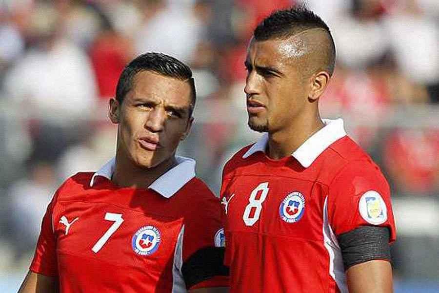 Arturo Vidal y Alexis Sánchez con la selección chilena (Foto: www.kienyke.com)