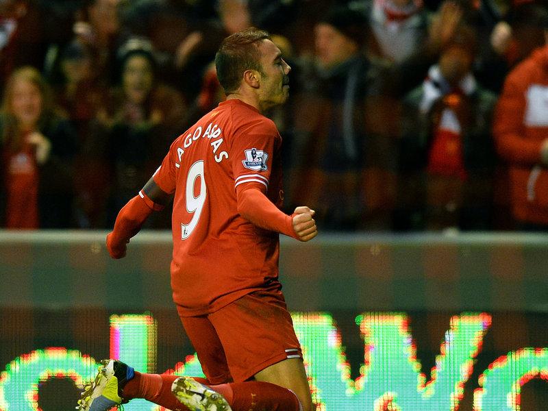 Iago Aspas celebrando un gol con el Liverpool (Foto: www.football365.com)