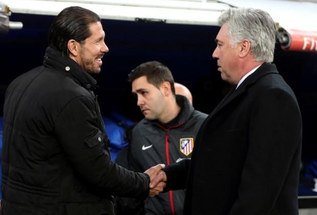Ancelotti parece agradecer el empate a Simeone (Foto: telediario.mx)