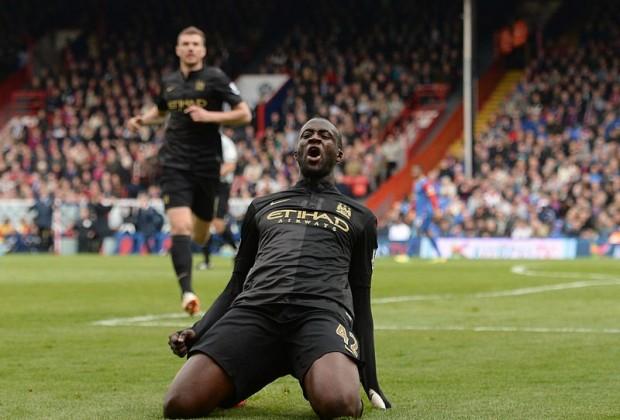 Touré celebra su último gol ante el Crystal Palace (Foto: sundayworld.com)