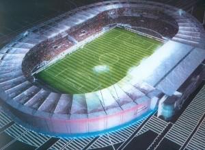 Vista aerea del Stade de Toulouse
