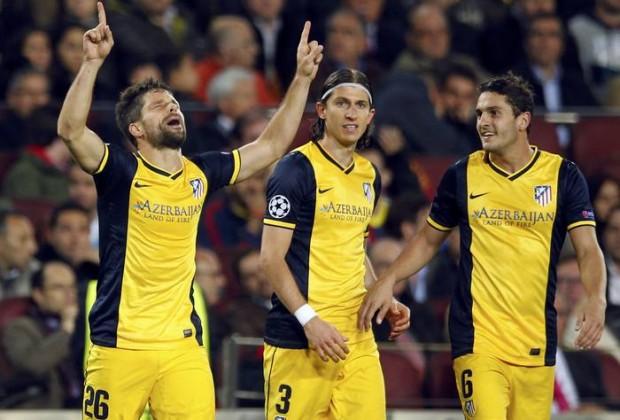Diego Ribas, tras marcar el empate en el Nou Camp (Fuente: www.rtve.es)