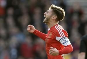 Adam Lallana celebrando un gol