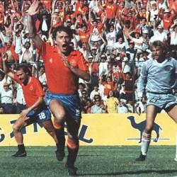 Mundial México 1986_España_Dinamarca_Butragueño_Michel