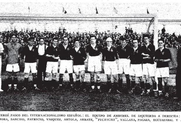 España_Juegos Olímpicos Amberes 1920_Ricardo Zamora_Pichichi_Sesúmaga