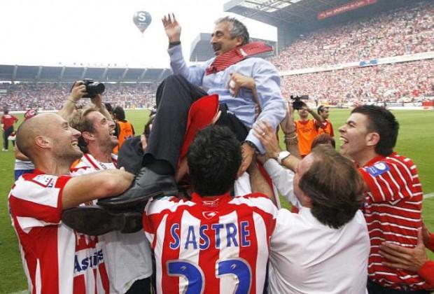 Preciado celebrando el ascenso (Foto: marca.com)
