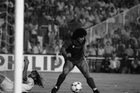 Maradona gol Barcelona Real Madrid Copa de la Liga 1983