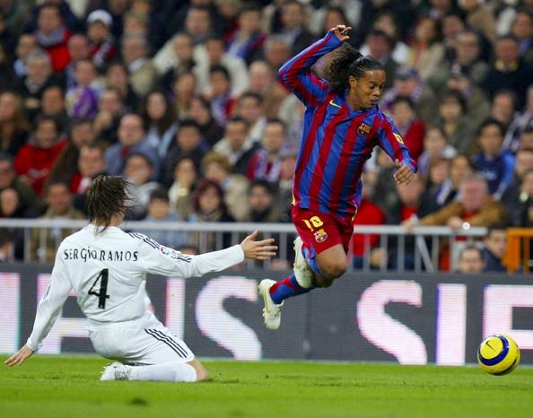 Ronaldinho Santiago Bernabéu aplausos