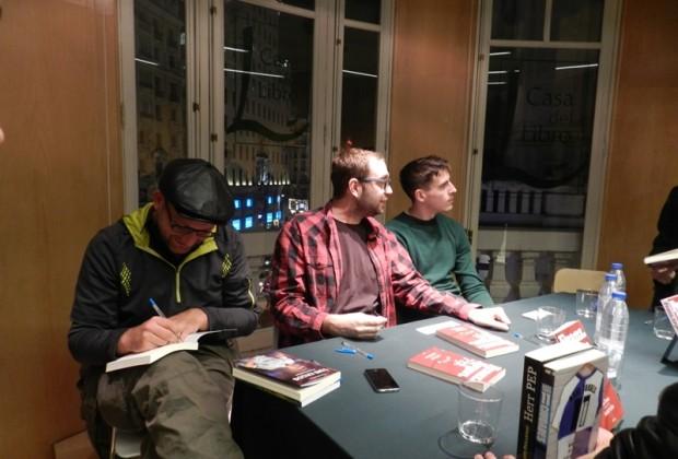 André Schön, Axel Torres y Guillermo Valverde presentación Franz Jürgen Pep
