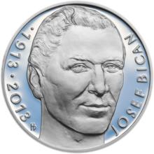 En 2013 se acuñaron monedas por el centenario de su nacimiento  (Foto zlate-mince.cz).