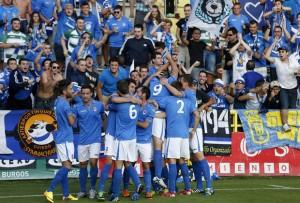 Real Oviedo (en su partido contra el Burgos, en 2014)