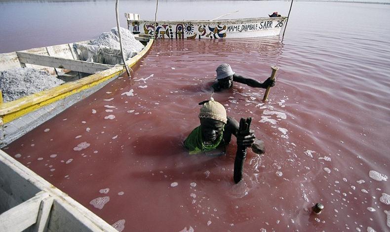 Trabajadores Lago Rosa Senegal
