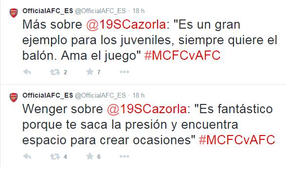Twitter Arsenal Cazorla