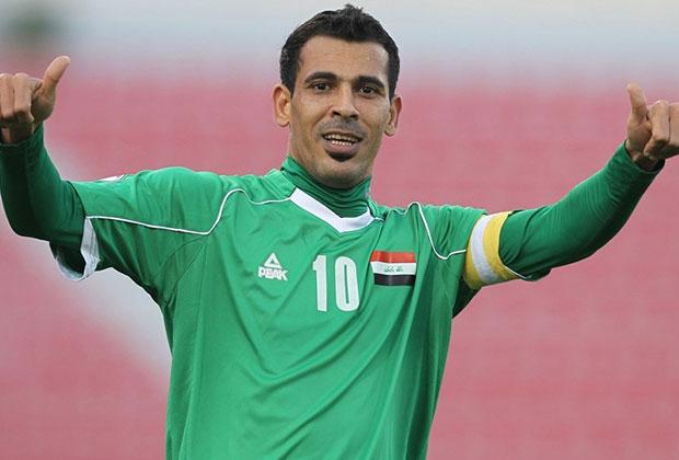 Younis Mahmoud con la elastica iraqui
