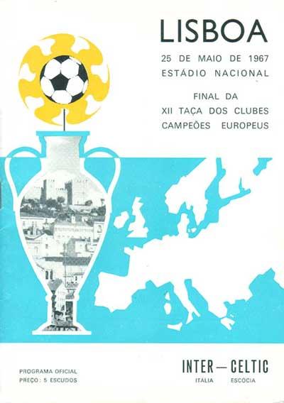 Cartel Final Inter Celtic 1967
