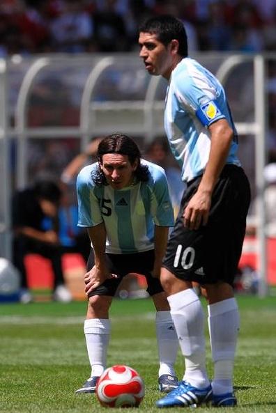 Messi y Riquelme