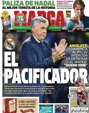 Portada Marca Ancelotti Pacificador 20 Mayo 2013