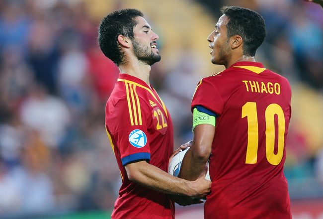Isco y Thiago selección española