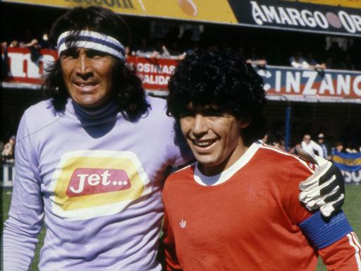 El loco Gatti y el gordito Maradona