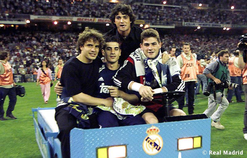 Álvaro durante una celebración con el Real Madrid