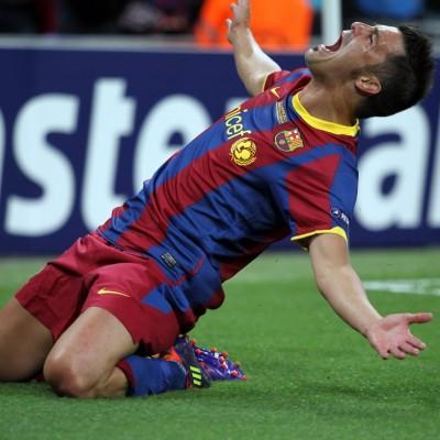 El '7' celebrando su gol en Wembley (foto: fcbarcelona.es)