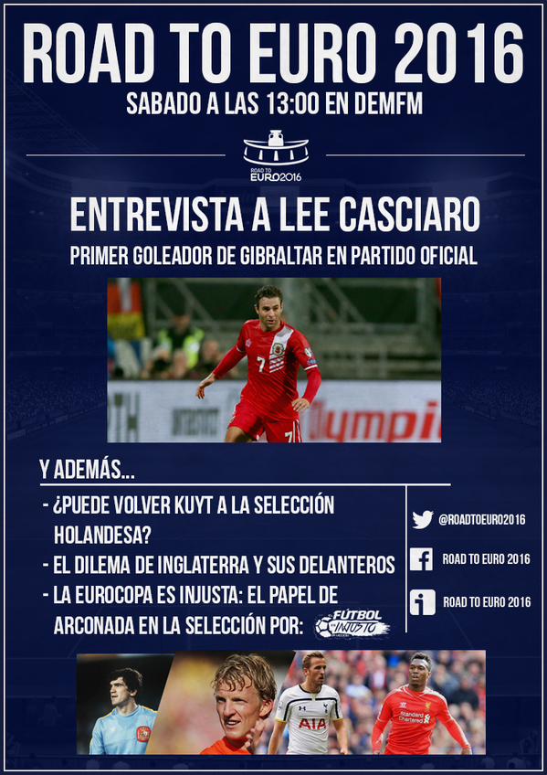 Road To Euro 2016 cartel
