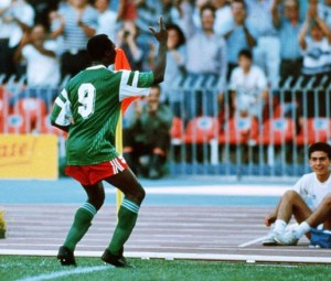 Roger Milla baile gol Camerún
