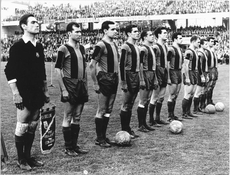11 del Barcelona Copa Europa 61