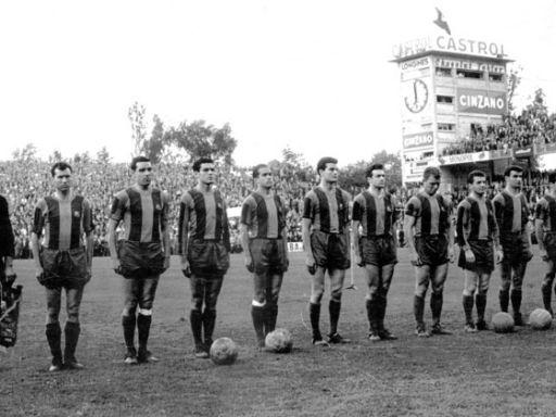 La primera final europea del Barcelona y los postes redondos