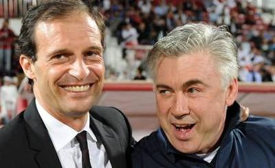 Allegri y Ancelotti (Foto gazzetta.it)