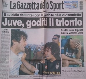 Gazzetta dello Sport Juventus 5 Mayo 2002