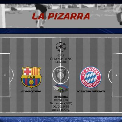 UEFA Champions League Barcelona Bayern Pizarra
