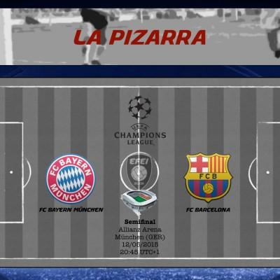UEFA Champions League Bayern München Barcelona Pizarra