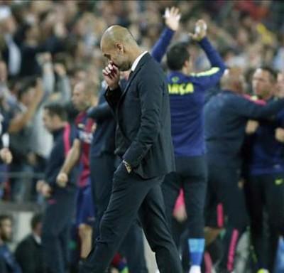 Pep Guardiola en el Camp Nou
