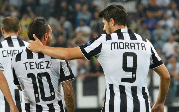 Tévez y Morata Juventus 2015