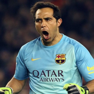 Claudio Bravo, seguridad en el arco del Barça campeón de Liga (Foto: soychile.cl)