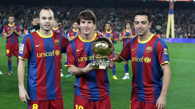Messi, Xavi e Iniesta