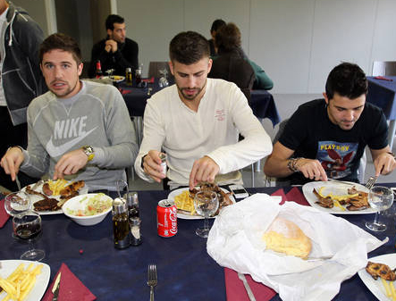¿Deben los futbolistas cuidar su alimentación?