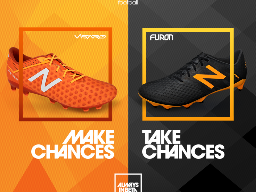 New Balance Visaro Lava/Fireball y Furon Black/Impulse Orange