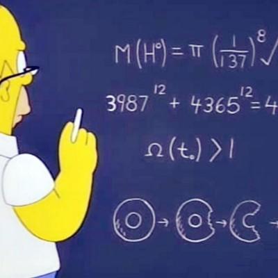 Homer Simpson Matematicas