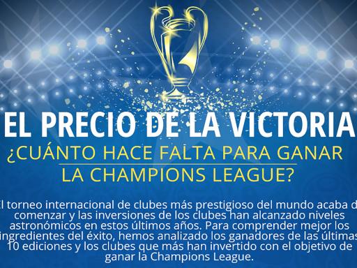 ¿Cuánto cuesta ganar la Champions League?